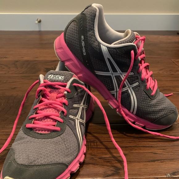 Asics Shoes   Rush33 Running Pink Gray